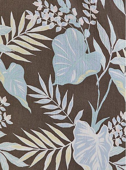 Dark Taupe & Blue Floral Crinkled Gauze Walkthrough Romper, FLORALS-MINT, alternate