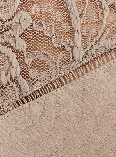 Taupe Studio Knit & Lace Top, ATMOSPHERE, alternate