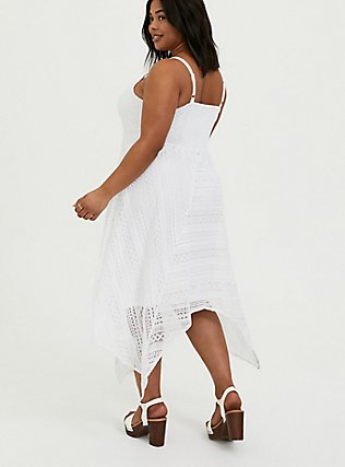 White Lace Handkerchief Skater Dress, BRIGHT WHITE, alternate