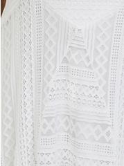 White Lace Handkerchief Skater Dress, BRIGHT WHITE, alternate