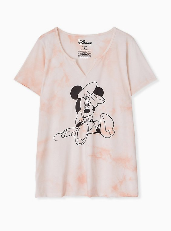 Disney Minnie Mouse Light Pink Tie-Dye Top, , hi-res