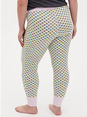 Multi Mermaid Scale Drawstring Sleep Pant, MULTI, alternate