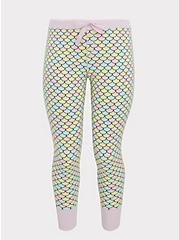 Multi Mermaid Scale Drawstring Sleep Pant, MULTI, hi-res