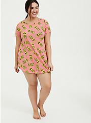 Coral Pineapple Skull Sleep Tunic, MULTI, alternate