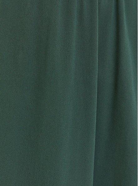 Green Crepe Babydoll Tunic Tank, GARDEN TOPIARY, alternate