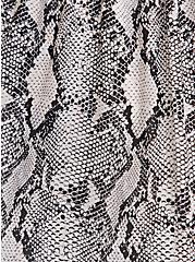 Plus Size Grey Snakeskin Print Strapless Babydoll Tunic, SNAKE - GREY, alternate