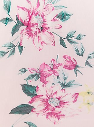 Pink Floral Mesh O-Ring Halter Tank, FLORAL PRINT, alternate