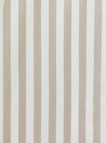Plus Size Taupe & White Stripe Poplin Shirt Dress, STRIPE-IVORY, alternate