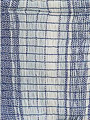 Plus Size Blue Striped Gauze Smocked Cami, MULTI, alternate