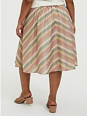 Plus Size Multi Chevron Lurex A-Line Midi Skirt, CHEVRON, alternate