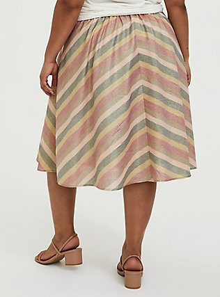 Multi Chevron Lurex A-Line Midi Skirt, CHEVRON, alternate
