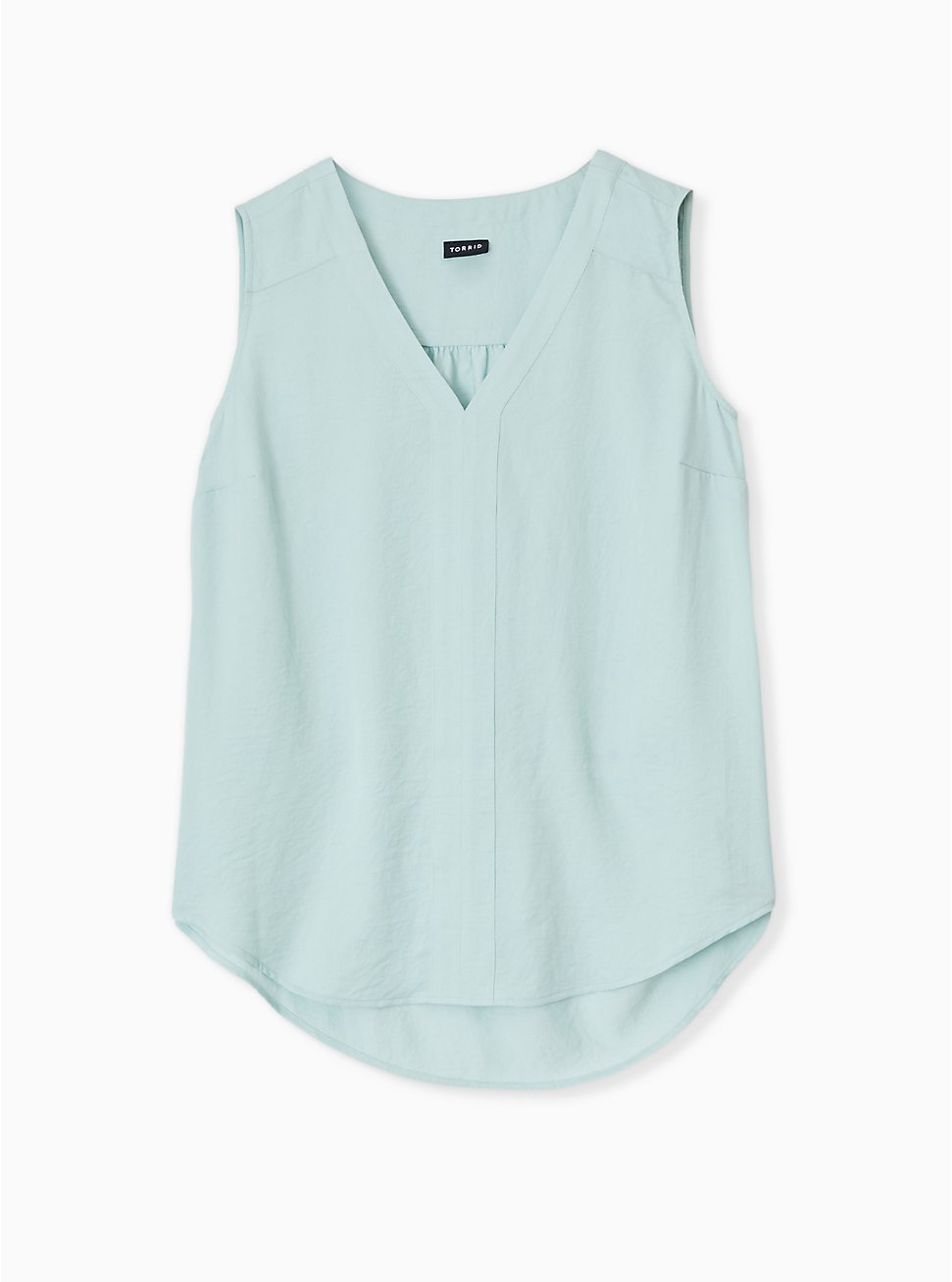 Plus Size Mint Blue Textured Satin Pullover Tank , HARBOR GRAY, hi-res