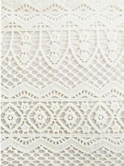 Plus Size White Gauze & Crochet Babydoll Cami, CLOUD DANCER, alternate