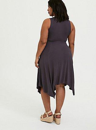 Super Soft Dark Slate Grey Handkerchief Dress, NINE IRON, alternate
