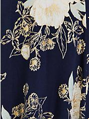 Super Soft Navy Floral Handkerchief Dress, FLORALS-NAVY, alternate
