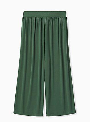 Green Studio Knit Culotte Pant, GARDEN TOPIARY, alternate