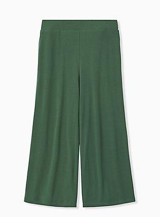 Green Studio Knit Culotte Pant, GARDEN TOPIARY, hi-res