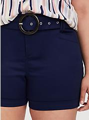 Belted Mid Short - Sateen Navy, PEACOAT, alternate