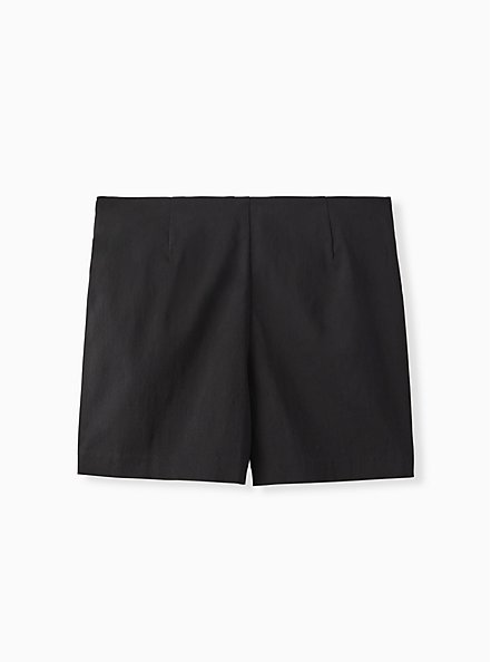 Plus Size Short Short - Structured Woven Black, DEEP BLACK, hi-res