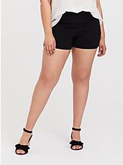 Short Short - Structured Woven Black, DEEP BLACK, hi-res