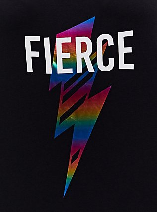 Fierce Rainbow Bolt & Black Wicking Active Tank, BLACK, alternate