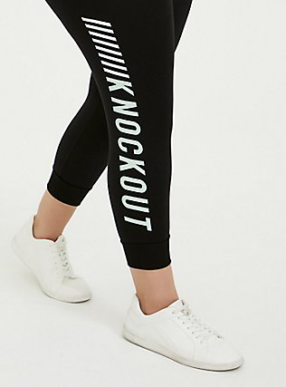 Knockout Black Terry Active Jogger, BLACK, alternate