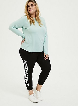 Knockout Black Terry Active Jogger, BLACK, hi-res