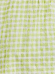 Lime Green Gingham Tie Front Midi Peplum Cami, MULTI, alternate