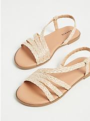 Plus Size Tan Woven Jute Slingback Sandal (WW), TAN/BEIGE, alternate