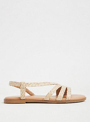 Tan Woven Jute Slingback Sandal (WW), TAN/BEIGE, alternate