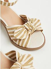 Beige Stripe Bow Front Espadrille Block Heel (WW), TAUPE, alternate