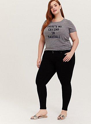 League of Their Own Baseball Heather Grey Triblend Crew Tee, MEDIUM HEATHER GREY, alternate