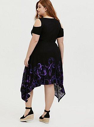 Plus Size Her Universe Disney The Little Mermaid Ursula Tentacle Dress , DEEP BLACK, alternate