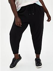 Relaxed Fit Crop Jogger - Dressy Twill Black, DEEP BLACK, hi-res