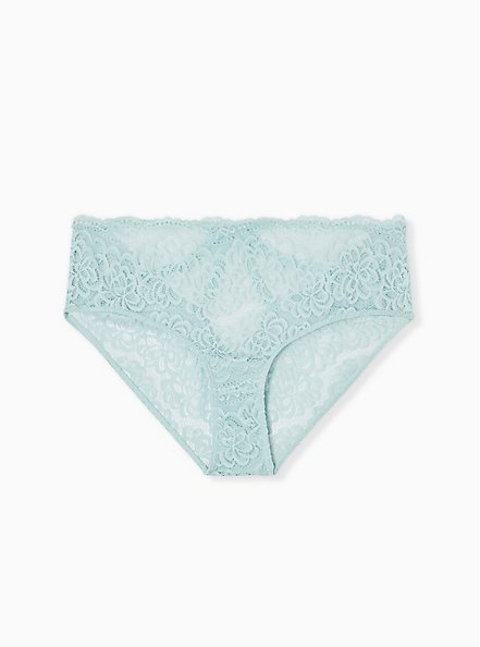 Mint Blue Lace Cage Back Hipster Panty, HARBOR GRAY, alternate