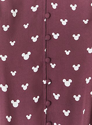 Disney Mickey Mouse Georgette  Burgundy Purple Fit & Flare Cami, MULTI, alternate