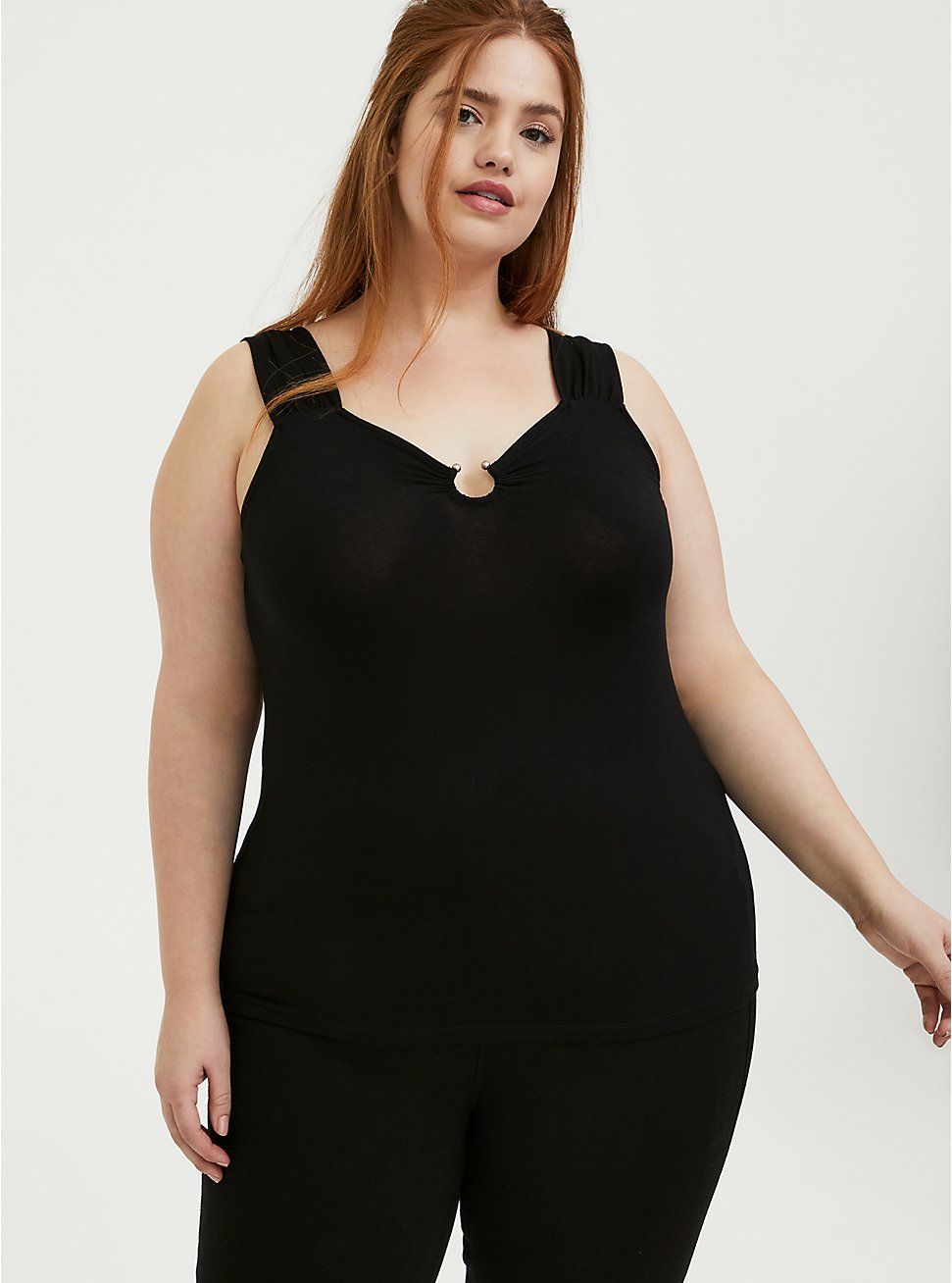 Super Soft Black U-Bar Tank, DEEP BLACK, hi-res