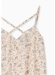 Plus Size Disney Lady & The Tramp Light Pink Double Layer Swing Cami, MULTI, alternate