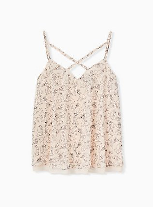 Disney Lady & The Tramp Light Pink Double Layer Swing Cami, MULTI, hi-res