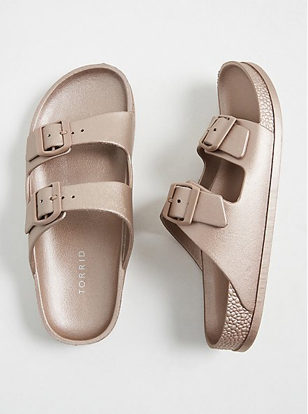 Rose Gold Rubber Dual Strap Slide (WW), ROSE GOLD, hi-res