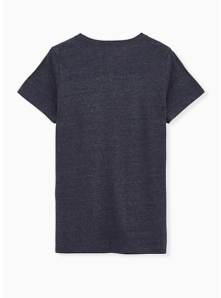 Cat Mom Slim Fit Crew Tee - Triblend Jersey Navy, PEACOAT, alternate