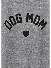 Dog Mom Slim Fit Crew Tee - Triblend Jersey Heather Grey, MEDIUM HEATHER GREY, alternate
