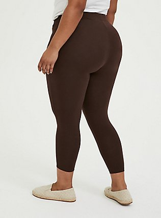 Crop Premium Legging - Chocolate Brown, JAVA, alternate