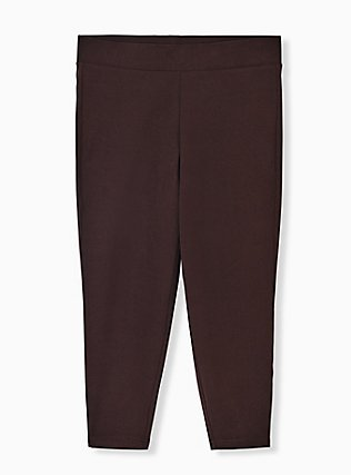 Crop Premium Legging - Chocolate Brown, JAVA, flat