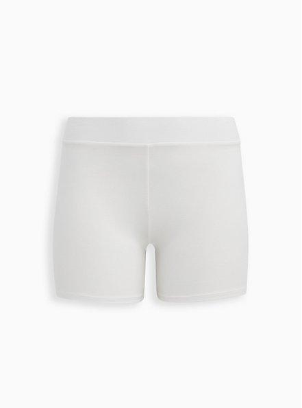 White Seamless Bike Short, CLOUD DANCER, hi-res