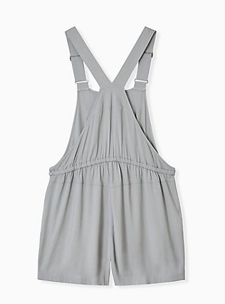 Drawstring Shortall - Twill Sage Green , MOON MIST, alternate