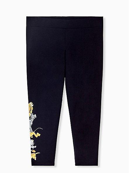 Disney Animals Dogs Black Crop Legging, DEEP BLACK, alternate