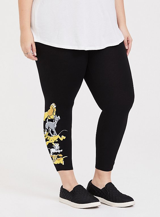 Disney Animals Dogs Black Crop Legging, , hi-res