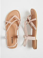 Blush Pink Studded Slingback Sandal (WW) , BLUSH, alternate