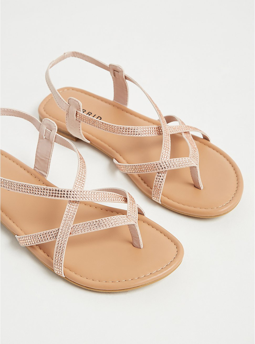 Blush Pink Studded Slingback Sandal (WW) , BLUSH, hi-res